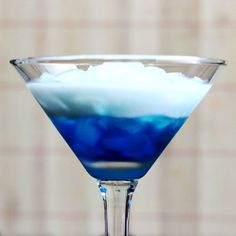 Blue Russian drink recipe: vodka, Blue Curacao, cream