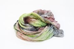 grey silk scarf - Duchess -  light, peach, lemon yellow, grey, dark grey silk scarf.