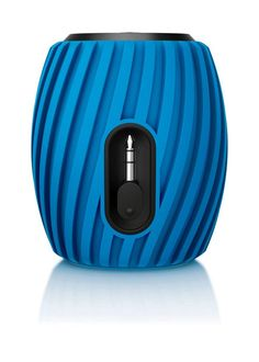 Philips wireless bluetooth SoundShooter in  blue. http://www.philips.co.uk/)