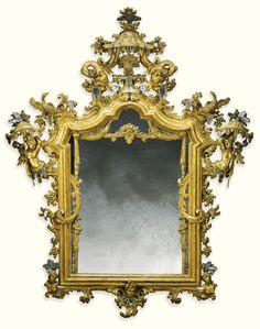 An Italian carved giltwood mirror, Venetian circa 1730   Sotheby's