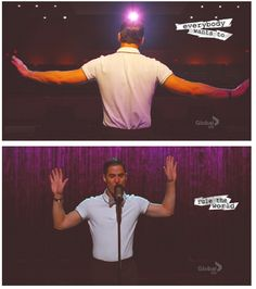 Everybody Want to Rule the World (But Only Blaine Can) ❤️❤️❤️ Absolutely!!  One of my fav Blaine solos...and I would not complain one tiny little bit if this happened, as I love both the character and the boy who plays him...