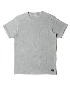 Edwin Pocket T-Shirt - Dark Grey Marl