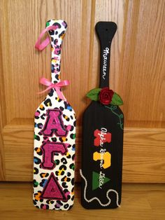 give a sorority paddle for christmas... check them out on etsy! only $35.  Etsy shop: blknwhitezebrastripe
