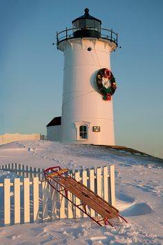 Nobska Light, Falmouth, MA  #holiday