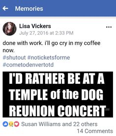 Temple Of The Dog, Crying, Memories, Memoirs, Souvenirs, Remember This