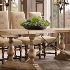 Restoration Hardware  this table outdoors on the logia
