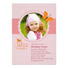 Rosebud Wreath  Pink  Green Naming Ceremony Invitation