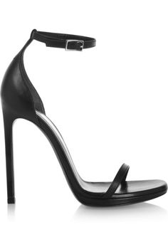 Love this by SAINT LAURENT Classic Jane Ankle Strap 105 Sandal In Black Leather - $64573