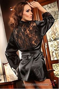 Beauty Night Fashion Damen Kimono Prilance BN10178 schwarz S-L