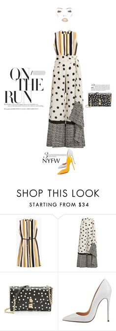 """""""NYFW"""" by siemprebellaquieroestar ❤ liked on Polyvore featuring Chico's, Oscar de la Renta, Dolce&Gabbana, Christian Louboutin, StreetStyle and NYFW"""