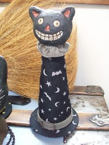 Cute Halloween decor found on eBay. Paper mache black cat
