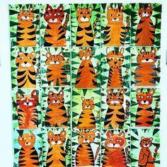 """183 Likes, 10 Comments - Lehrerin aus Leidenschaft  (@grundschuleulchen) on Instagram: """"• r a r w w w r •  . . . Endlich hängen unsere wilden Tiger Bilder  das hat nun doch ganz…"""""""