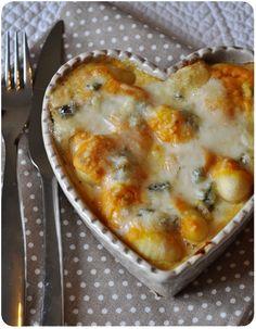 Gratin de gnocchis à la crème de courge et au gorgonzola