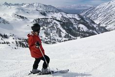 Skiing in the Utah mountains.
