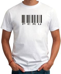 Peru Barcode Men T-Shirt