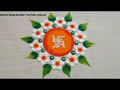 Easy Rangoli Designs Videos, Easy Rangoli Designs Diwali, Rangoli Designs Latest, Simple Rangoli Designs Images, Rangoli Designs Flower, Free Hand Rangoli Design, Rangoli Border Designs, Colorful Rangoli Designs, Rangoli Ideas