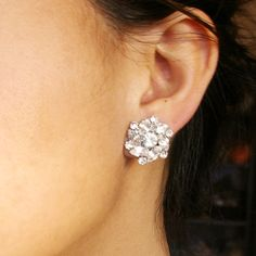 Rhinestone Bridal Stud Earrings Vintage Inspired by luxedeluxe, $45.00