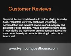 Here Are What Some Of Our Customers Think! Best Bed And Breakfast, Manchester, How To Plan