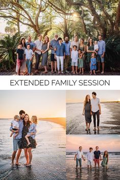 Extended Family Pictures, Big Family Photos, Family Beach Session, Beach Sessions, Extended Family Photography, Fall Family Photo Outfits, Family Portrait Poses, Isle Of Palms, Beach Photography
