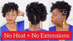 Watch it Here>>>  Photo Credit: _yasserk 4b Natural Hair, Natural Hair Tutorials, How To Grow Natural Hair, Natural Hair Styles, Curly Hair Overnight, Overnight Curls, Curls No Heat, Heat Waves, 4c Hair Growth