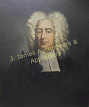 Portrait, Cotton Mather (1663-1728), M.E. Black WWW.JJAMESAUCTIONS.COM