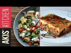 Moussaka by Greek chef Akis Petretzikis! Are you ready to try one of the most amazingly delicious dishes you have ever tasted? Make this fabulous recipe today! Moussaka by Greek chef Akis Petretzikis! Are you ready to try one of the mo Greek Salad Recipe Authentic, Greek Salad Recipes, Tofu Recipes, Cooking Recipes, Traditional Greek Salad, Moussaka Recipe, Cooking Tomatoes, Greek Cooking, Greek Dishes