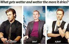 Haha<<<< Tom Hiddlestons face tho omg