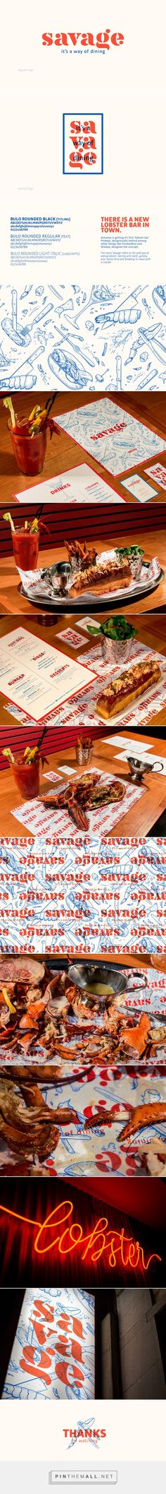 SAVAGE lobster restaurant on Behance... - a grouped images picture - Pin Them All
