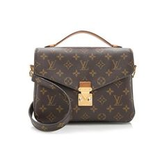 Pre-Owned Louis Vuitton Monogram Canvas Pochette Metis Shoulder Bag ($1,595) ❤ liked on Polyvore featuring bags, handbags, shoulder bags, brown, brown shoulder bag, canvas purse, louis vuitton shoulder bag, monogram purse and canvas handbags