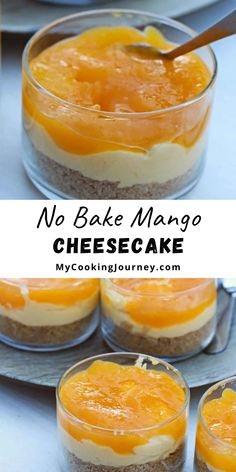 This No Bake Mango Cheesecake is an apt recipe for the holiday season when having guests over or for parties. This eggless cheesecake can be made couple of days ahead and so there is no sweating on the day of party. #dessert #mango #mangocheesecake #mycookinjourney @mycookinjourney | mycookingjourney.com