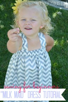 Milk Maid Dress Tutorial by Our Thrifty Ideas on I Heart Nap Time