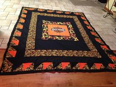 Harley Davidson quilt from sheets from facebook.