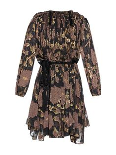 Lanvin Floral lamé dress