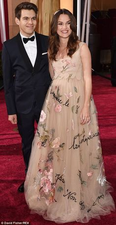 Supportive: Best Supporting Actress nominee Keira was joined by proud husband James Righto...
