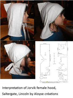 jorvik-style viking female hood