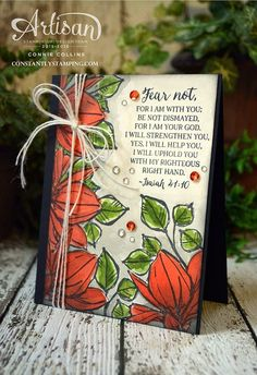 ConnieCollins-GDP028-002 - SU -  Encouragement, GDP028, Global Design Project, Isaiah 41:10, Remarkable You, Rose Wonder, Sympathy Card