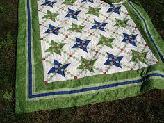 Chain of Friends - Friendship Star Quilt by Kara J Quilts, via Flickr