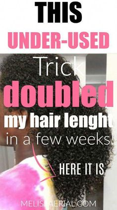Use this trick to double your natural hair Length . Grab our fast hair growth tips to help grow your hair. #HairCareOil Natural Hair Growth Tips, How To Grow Natural Hair, Grow Long Hair, Grow Hair, Natural Hair Styles, Fast Hair Growth, Relaxed Hair Growth, Curly Hair Growth, Underarm Hair Removal