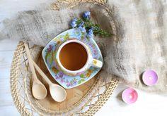 $12.00 The Flower Collection Cup & Saucer Set - Decal - Ceramic Workshop of St. Elisabeth Convent - To learn more: http://catalog.obitel-minsk.com/ceramics-workshop Worldwide Delivery - #CatalogOfGoodDeeds #pottery #ceramic #handmade #order #purchase #buy #gift #souvenir #present #cup #mug #sauser #plate