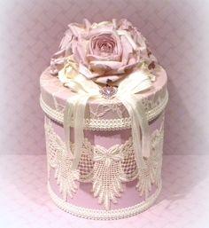 Lavanda decoración Chic Shabby Shabby Chic caja encaje cubre