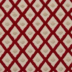 Cut Velvet 20770-06 1 Red, Gold, Beige