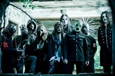 Slipknot - Sid #0 - turntables, Joey #1 - drums, Paul #2 - bass, Chris #3 - percussion, James #4 - guitar, Craig #5 - samples/media, Clown #6 - percussion, Mick #7 - guitar, Corey #8 - vocals