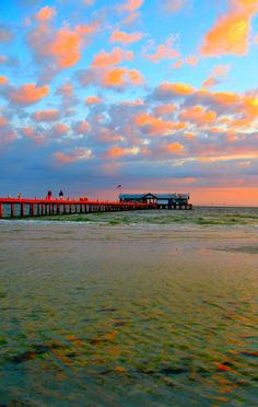 Sunrise at City Pier, Anna Maria Island, photo taken by bittersweethouse. Absolutely Gorgeous! #RiseandShineAMI