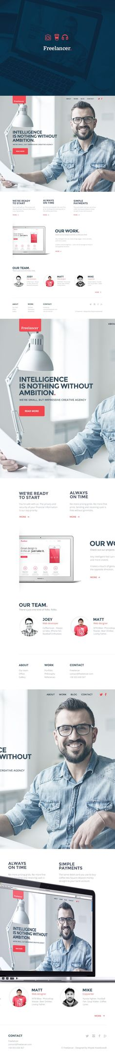 Un disseny web excel·lent per fer una presentació personal #personal #webdesign #web. If you like UX, design, or design thinking, check out theuxblog.com