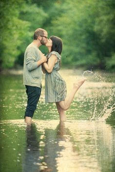 Engagement Photos possible since i that's where Shawn asked the question by a creek