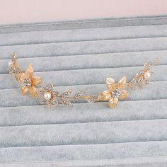 Browse unique items from Designsbygrg on Etsy, a global marketplace of handmade, vintage and creative goods. Gold Hair Accessories, Bridal Accessories, Headband Hairstyles, Wedding Hairstyles, Greek Crown, Gold Tiara, Gold Crown, Gold Leaf Headband, Hair Chains