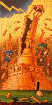 Visconti Sforza tarot deck, the Tower