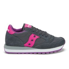 Buy Saucony Women's Jazz Original Trainers - Charcoal/Pink from Allsole. Saucony Shoes, Trainers, Charcoal, Shoes Sneakers, Sporty, Footwear, Jazz, The Originals, Sneakers