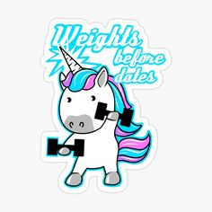Gym Humor, Workout Humor, Workout Shirts, Weight Lifting Humor, Bodybuilding Girl, Unicorn Stickers, Fitness Design, Fitness Activities, Have A Laugh
