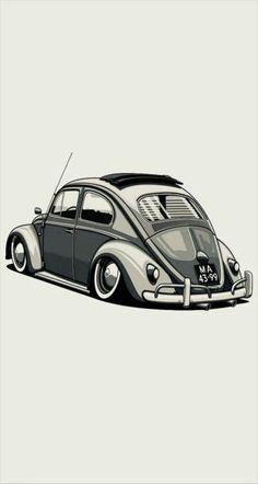 41 Ideas for cars sports drawing Kdf Wagen, Vw Vintage, Car Illustration, Vw Cars, Vw T1, Volkswagen Bus, Car Drawings, Automotive Art, Vw Beetles